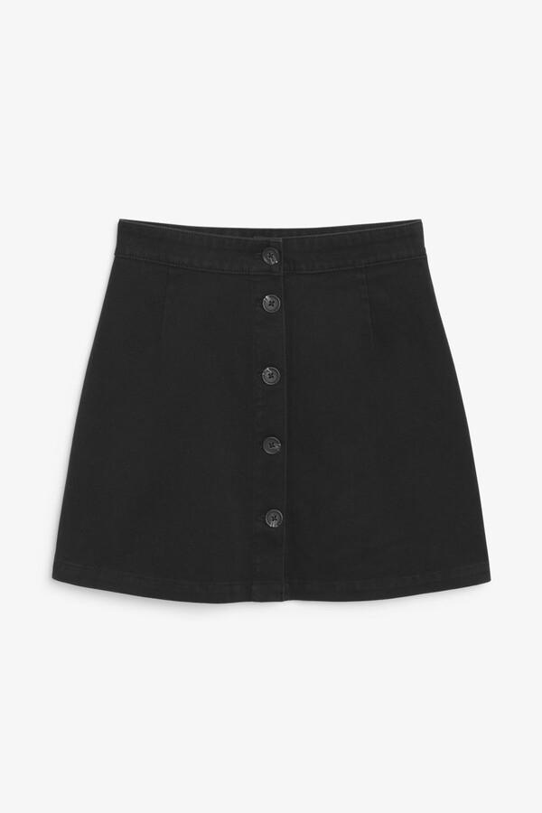 Monki A-line cotton mini skirt