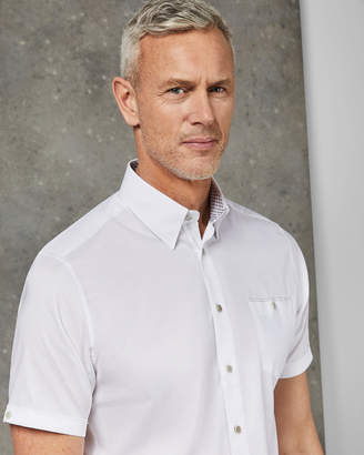 Ted Baker WALLATT Tall cotton short sleeved shirt