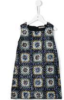 Ermanno Scervino embellished patterned shift dress