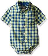 """Osh Kosh OshKosh Baby Boys' """"2-Tone Check"""" Button-Down Bodysuit"""