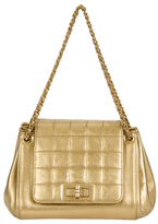 Chanel Vintage Gold Leather Accordion Flap