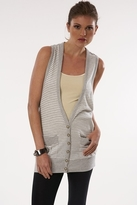 Heartloom Vestry Vest in in Grey