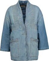 Current/Elliott The Kimono embroidered quilted denim jacket