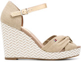Tommy Hilfiger zigzag wedge sandls - women - Leather/Tactel/rubber - 36