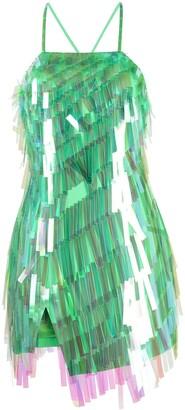 ATTICO Sleeveless Fringed Cocktail Dress