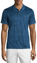 Michael Kors Tonal Camo-Print Short-Sleeve Polo Shirt, Prussian Blue