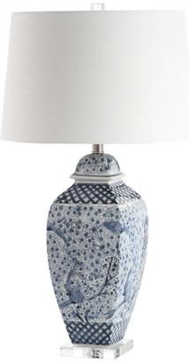 Studio Seven Braeden Table Lamp, Blue/White