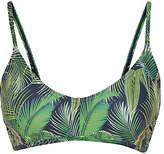 Fat Face Tropical Sporty Bikini Top, Navy