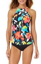 Anne Cole Growing Floral Printed Tankini Top