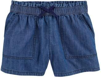 Osh Kosh Girls 4-14 Denim Ruffle Waist Pull-On Shorts