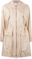 Agnona oversized pockets parka - women - Silk/Goat Skin - 38