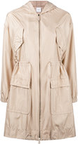 Agnona oversized pockets parka - women - Silk/Goat Skin - 40