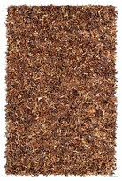 nuLoom Leather Hand Made Leather Shag Rug