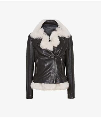 Reiss Nolan leather shearling jacket
