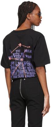 SSENSE WORKS SSENSE Exclusive Dev Hynes Black 'Smile' T-Shirt