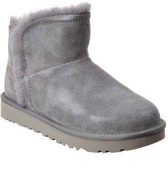 UGG Women's Classic Mini Fluff Suede High-Low Bootie