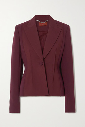 Altuzarra Eleanor Wool-blend Crepe Blazer - Burgundy