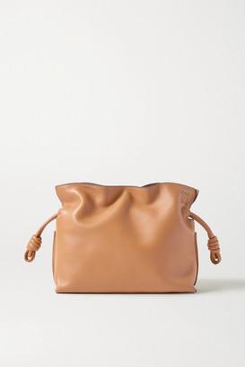 Loewe Flamenco Mini Leather Clutch - Camel