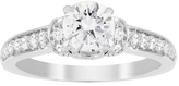 Jenny Packham Brilliant Cut 1.14 Carat Total Weight Diamond Art Deco Style Ring in 18 Carat White Gold