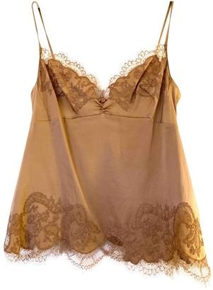 Carine Gilson Camel Silk Tops