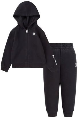Hurley Toddler Boy Fleece Zip Hoodie & Jogger Pants Set