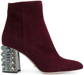 Sebastian ankle boots with embellished heel