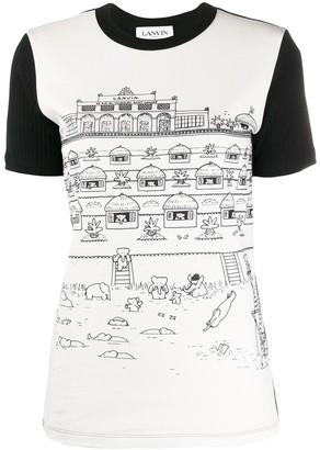 Lanvin Babar print two-tone T-shirt