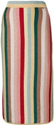 Elisabetta Franchi Multicoloured Striped Skirt