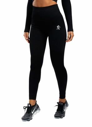 Gym King Women's Sports Balance Rib Leggings Fitness Gym Running Fashion Style WLG-B2362 New (12-14 / Waist 70-76 cm) Black