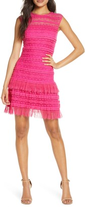 SHO Crinkle Lace Cocktail Dress