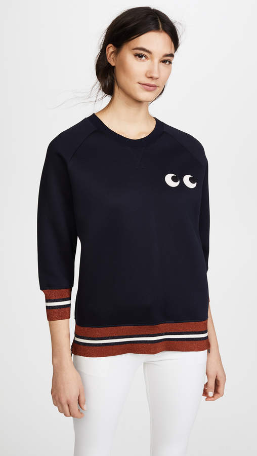 Anya Hindmarch Stitched Eyes Sweatshirt