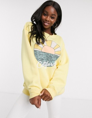 Daisy Street oversized sweatshirt with california graphic