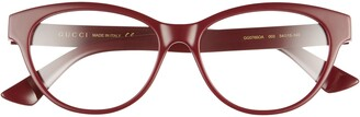 Gucci 54mm Round Optical Glasses