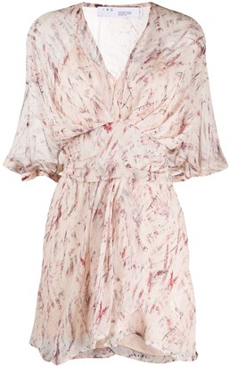 IRO Faded Abstract Print Dress