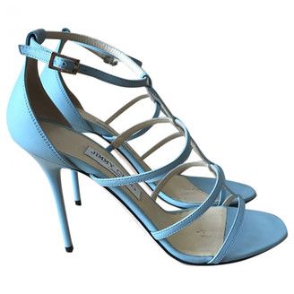 Jimmy Choo Blue Leather Sandals