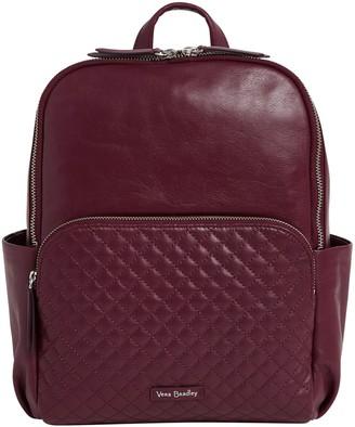 Vera Bradley Leather Carryall Backpack