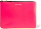 Comme des Garcons Super Fluo Neon Leather Pouch - Pink
