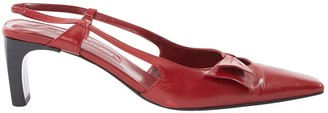 Sergio Rossi Red Leather Heels
