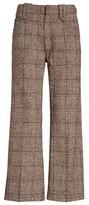 Marc Jacobs Women's Plaid Tweed Crop Pants