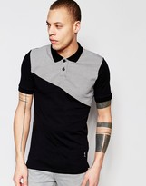 Religion Polo Shirt with Check Panel