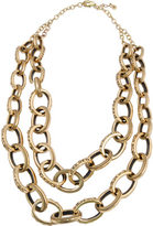 Barse Women's Bronze Large Link Statement Necklace JUBIN06BRZ