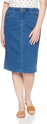 Chic Classic Collection Women's Stretch Denim L-Pocket Skirt