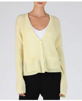 ATM Anthony Thomas Melillo Cashmere Deep V-Neck Cardigan - Yellow