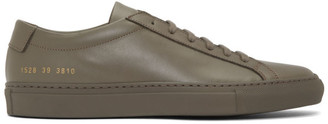 Common Projects Brown Achilles Low Sneakers