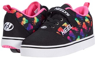 Heelys Pro 20 X2 (Little Kid/Big Kid) (Black/Rainbow) Girl's Shoes