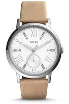 Fossil Gazer Multifunction Sand Leather Watch