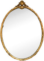 One Kings Lane Vintage Large Carved Shell Crest Oval Mirror