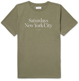 Saturdays NYC Miller Standard Printed Cotton-jersey T-shirt - Army green