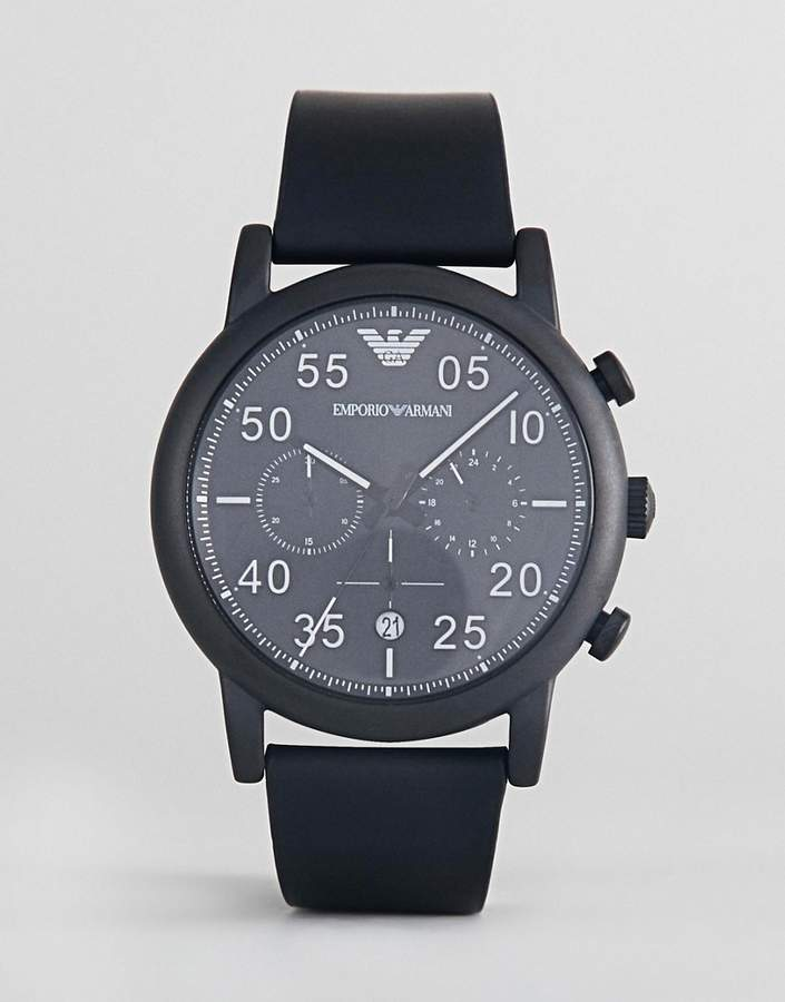 Emporio Armani AR11133 Luigi Chronograph Leather Watch