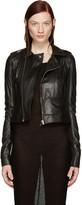 Rick Owens Black Leather Classic Stooges Jacket
